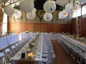 Hall decoration white lanterns